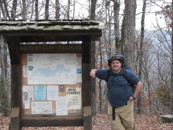 Ozark Highland Trailhead, December, 2006, about 260lbs