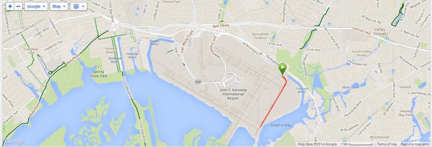 JFK Runway Run Course