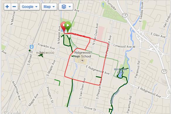 Ridgewood Run course