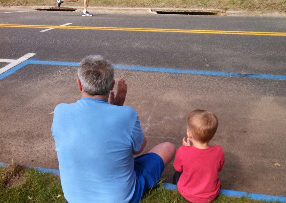 My son and his grandfather.  This - this right here - is what this is all about