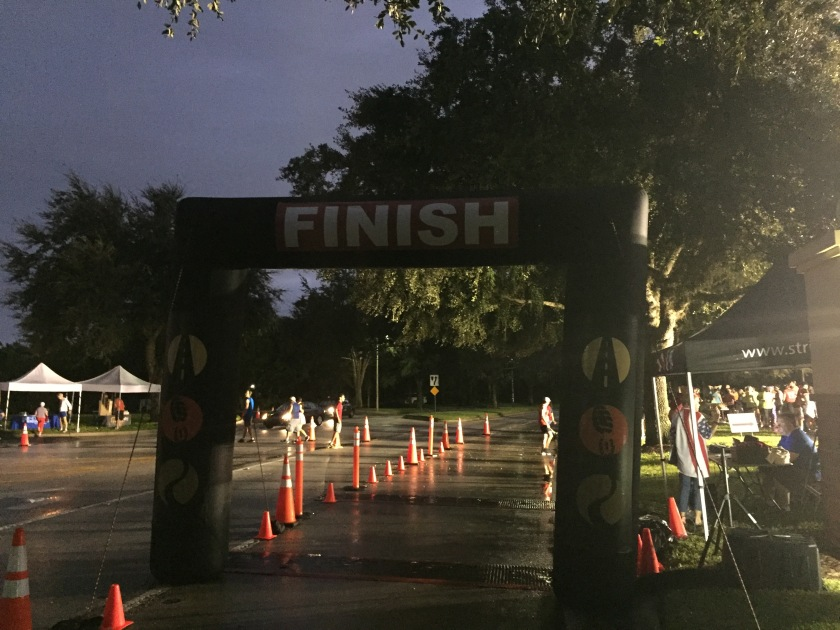 The finish line, before the madness